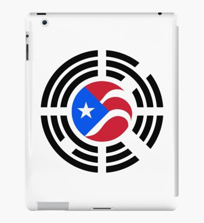 Puerto Rican Korean Multinational Patriot Flag Series iPad Case/Skin
