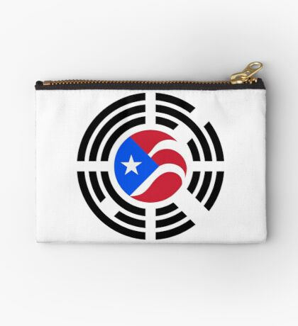 Puerto Rican Korean Multinational Patriot Flag Series Zipper Pouch