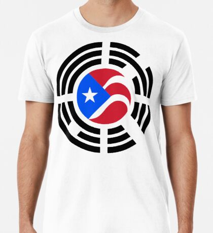 Puerto Rican Korean Multinational Patriot Flag Series Premium T-Shirt