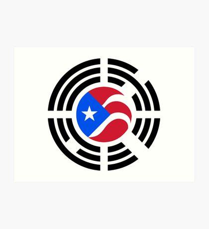 Puerto Rican Korean Multinational Patriot Flag Series Art Print