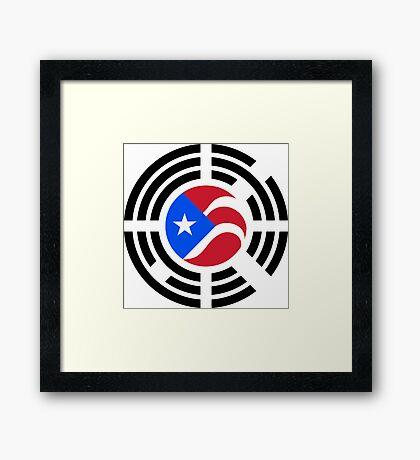 Puerto Rican Korean Multinational Patriot Flag Series Framed Print