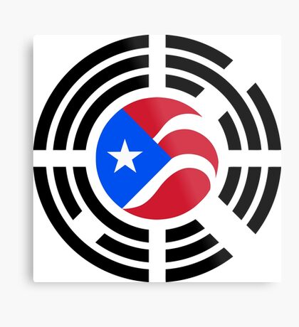 Puerto Rican Korean Multinational Patriot Flag Series Metal Print