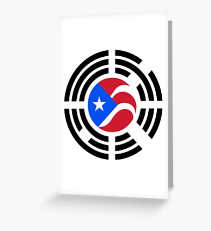 Puerto Rican Korean Multinational Patriot Flag Series Greeting Card