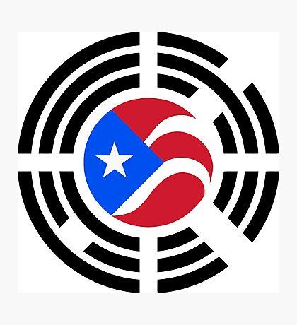 Puerto Rican Korean Multinational Patriot Flag Series Photographic Print