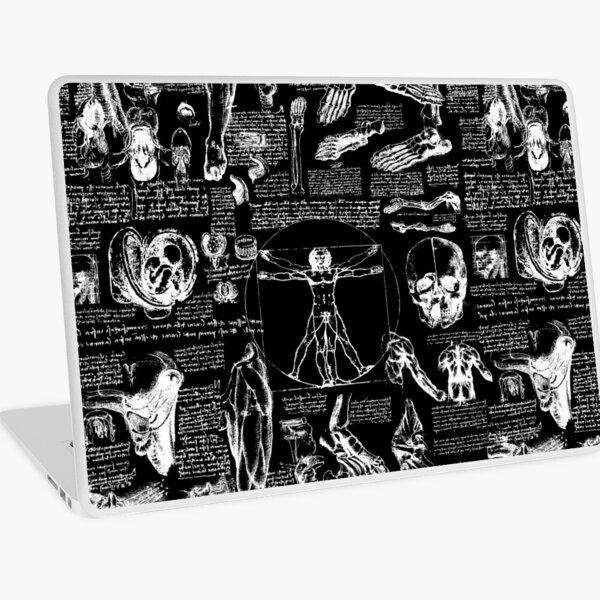 Da Vinci's Anatomy Sketches // Black Laptop Skin