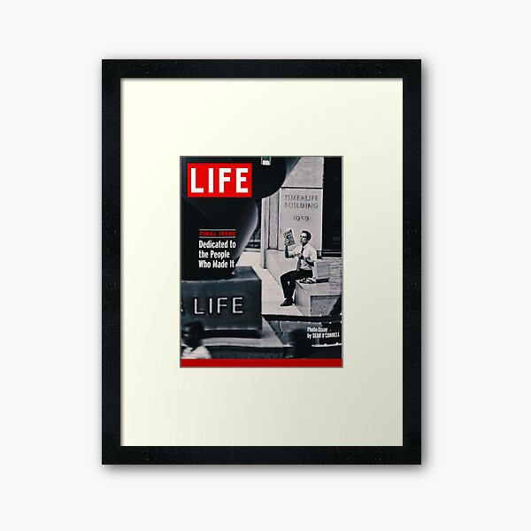 Walter Mitty LIFE Cover Framed Art Print
