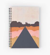 Cool Wind Desert Road Spiral Notebook
