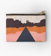 Cool Wind Desert Road Zipper Pouch