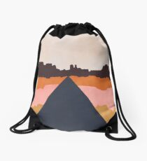 Cool Wind Desert Road Drawstring Bag