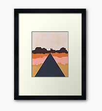 Cool Wind Desert Road Framed Print