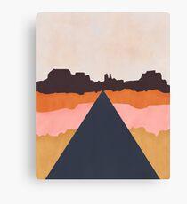 Cool Wind Desert Road Canvas Print