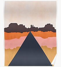 Cool Wind Desert Road Poster