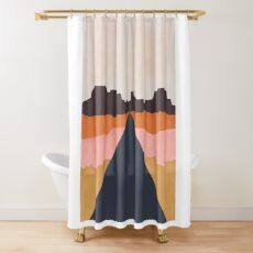 Cool Wind Desert Road Shower Curtain