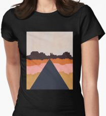 Cool Wind Desert Road Fitted T-Shirt