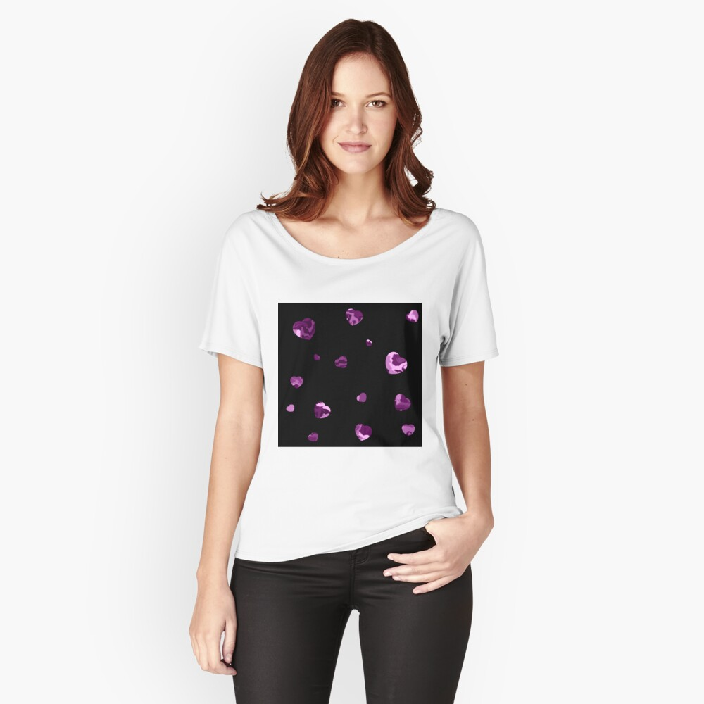 Chaotic Hearts, Dapple Series - Purple Relaxed Fit T-Shirt