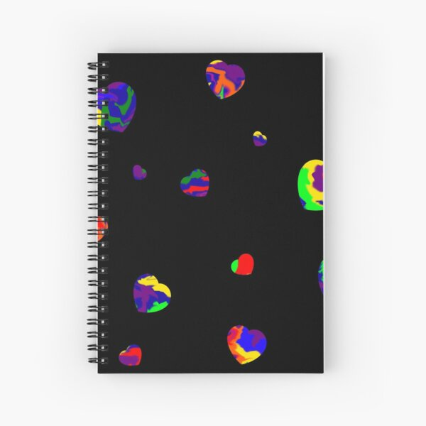 Chaotic Hearts, Dapple Series - Rainbow Spiral Notebook