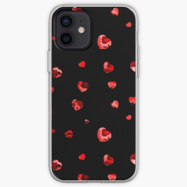 Chaotic Hearts, Dapple Series - Red iPhone Soft Case