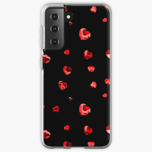 Chaotic Hearts, Dapple Series - Red Samsung Galaxy Soft Case