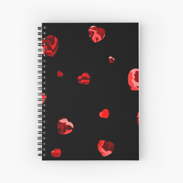 Chaotic Hearts, Dapple Series - Red Spiral Notebook