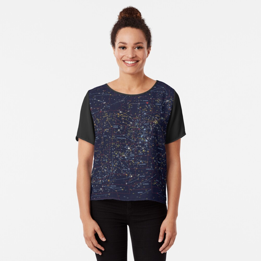All the stars you can see from Earth Chiffon Top