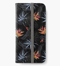 Tropical Bird of Paradise on Black iPhone Wallet/Case/Skin