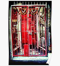 Red gates. Lomography Poster