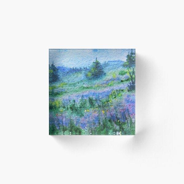 Purple Meadow Acrylic Block