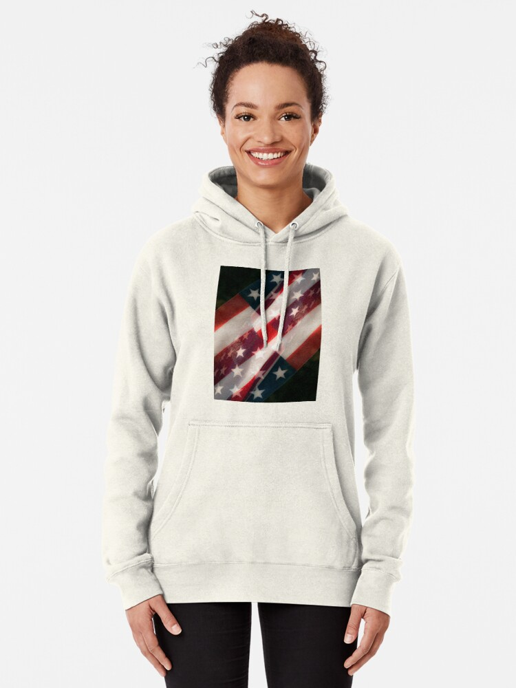 Alternate view of Stars And Stripes Pullover Hoodie