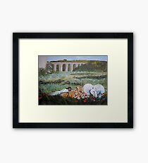 The Lion and the Unicorn (and friend) Framed Print