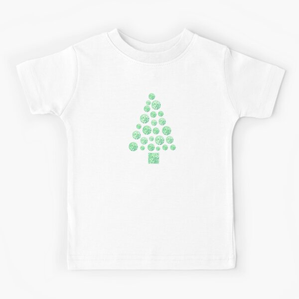 Christmas Holiday Party Tree Green Kids T-Shirt