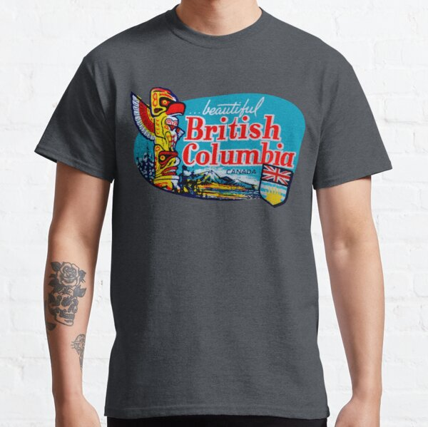 Beautiful British Columbia BC Vintage Travel Decal Classic T-Shirt