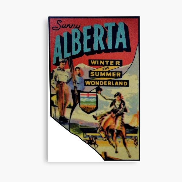 Alberta AB Canada Vintage Travel Decal Canvas Print