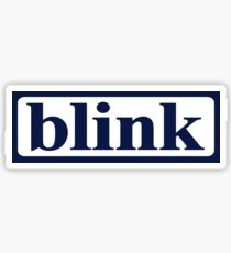 Vintage Blink 182 (Pre-182) Logo Design Sticker Sticker