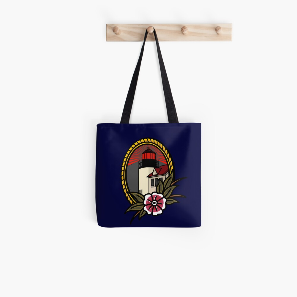 Red Lighthouse Series: Bass Harbor Head Light Tote Bag