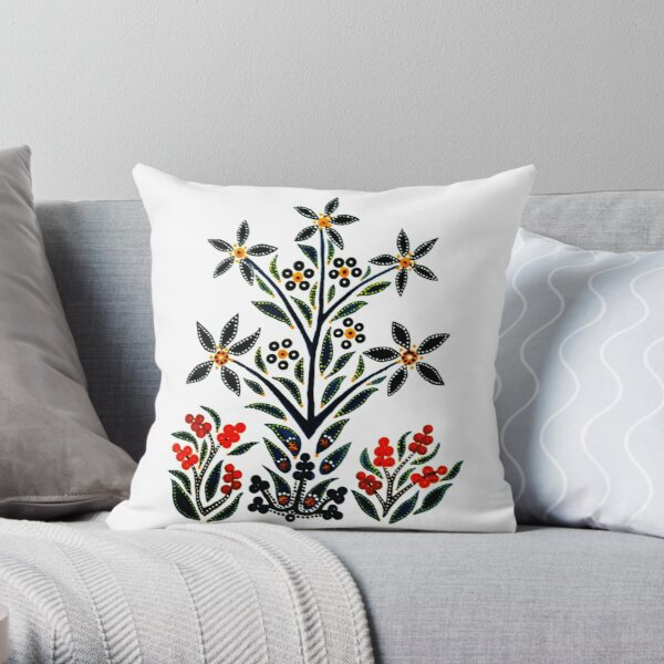 Slavic Flower 1 Throw Pillow