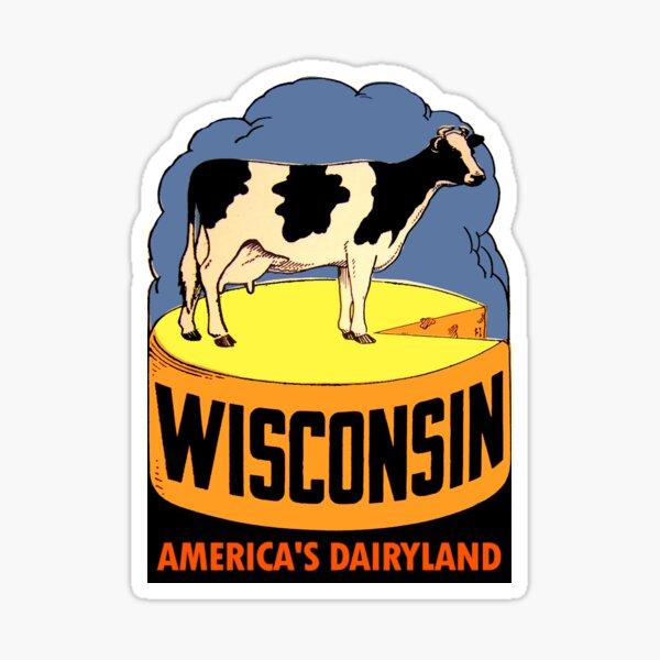 Wisconsin State Vintage Travel Decal Sticker