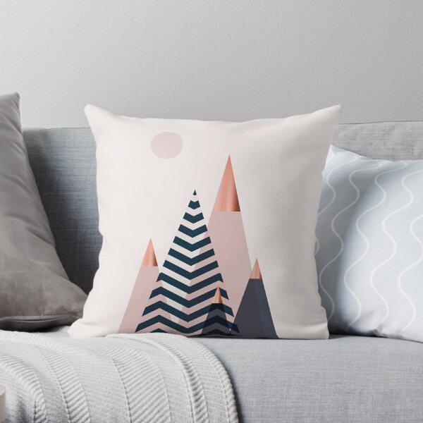 Scandinavian Mountains Throw Pillow