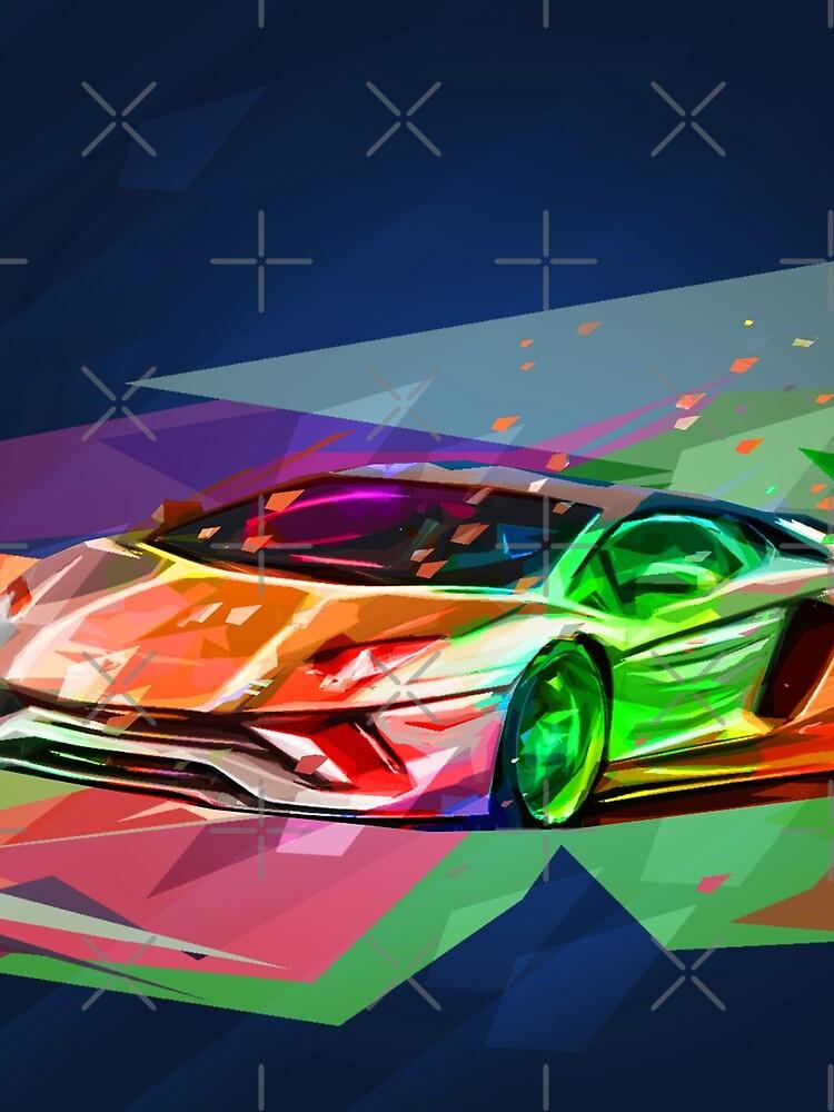 Lamborghini Aventador - Abstract by HogarthArts