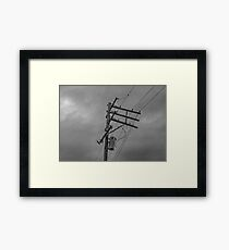 power pole Framed Print