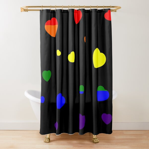 Chaotic Hearts, Pride Series - LGBT Shower Curtain