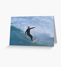 Chased By Water Greeting Card