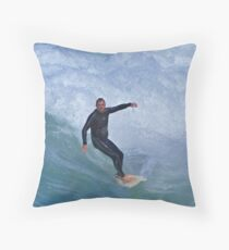 Chased By Water Throw Pillow