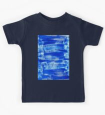 Cool & Calming Cobalt Blue Paint on White  Kids Tee