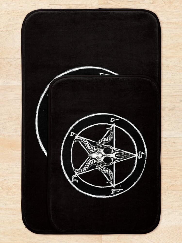 Alternate view of Baphomet Pentagram Bath Mat