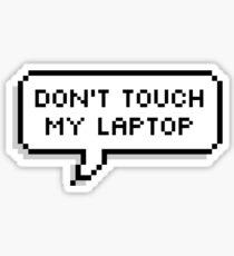 Pegatina No toques mi computadora portátil