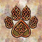 Celtic Knot Pawprint - Prints and Cards by CGafford