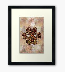 Celtic Knot Pawprint - Prints and Cards Framed Print