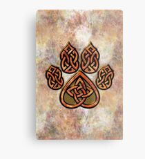 Celtic Knot Pawprint - Prints and Cards Metal Print
