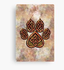 Celtic Knot Pawprint - Prints and Cards Canvas Print