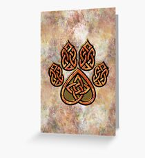Celtic Knot Pawprint - Prints and Cards Greeting Card